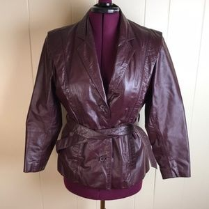 Vintage 70s/80s Berman's Burgundy Leather Jacket